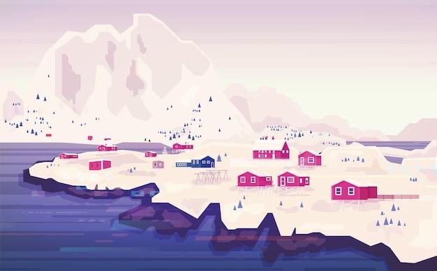 Panorama da paisagem norueguesa.