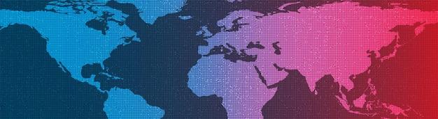 Panorama global network system technology background, conexão e conceito de comunicação