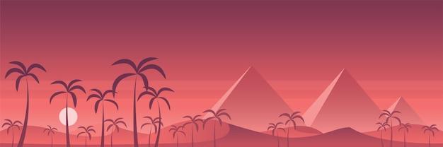 Panorâmica das pirâmides do deserto do egito