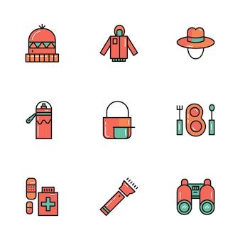 Panos e ferramentas de camping e ao ar livre