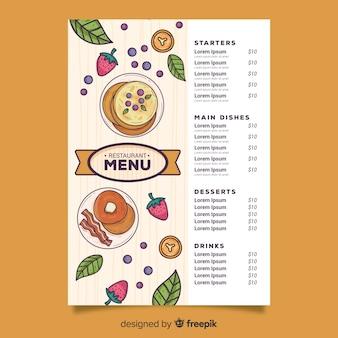Panquecas com variedade de menu de legumes