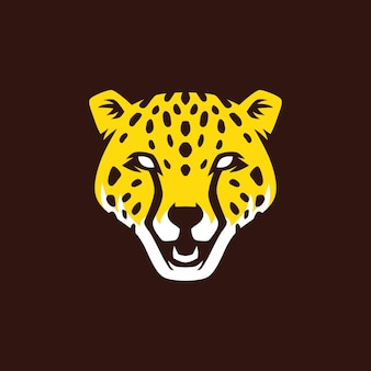 Pantera cabeça logo vector icon ilustração