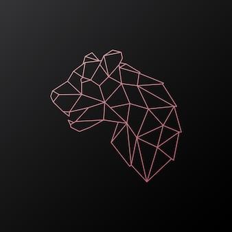 Pantera rosa geométrica abstrata