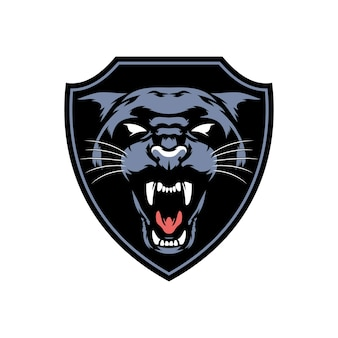 Panther head trophy