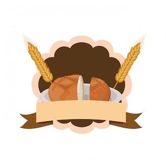 Pão bagel fresco e delicioso