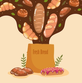 Pão caindo na bolsa
