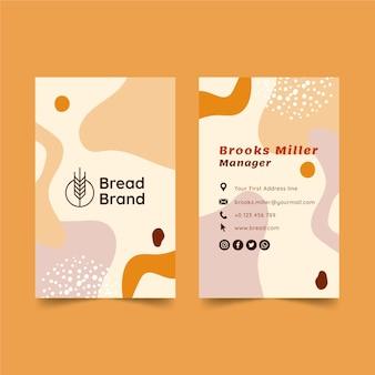 Pão cartão dupla face Vetor Premium