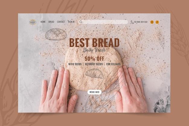 Pão com modelo de página de destino de desconto