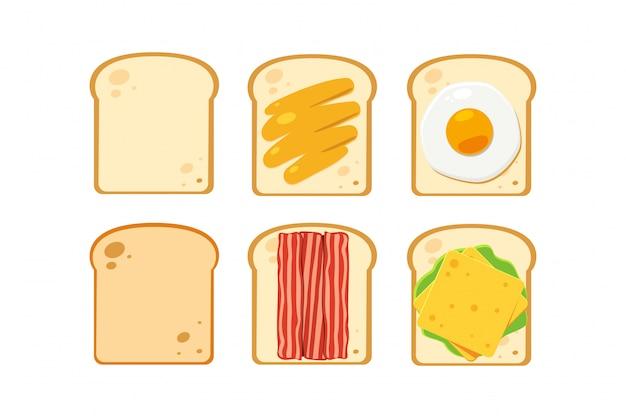 Pão com pratos alternativos