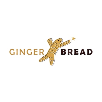 Pão de gengibre logo design cookie pastry and bakery