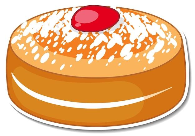 Pão de ló com cobertura de açúcar de confeiteiro e geléia de morango
