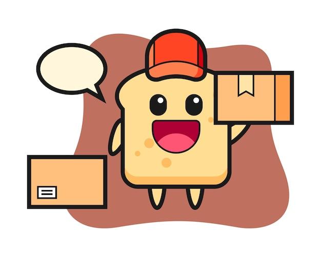 Pão de mascote como mensageiro