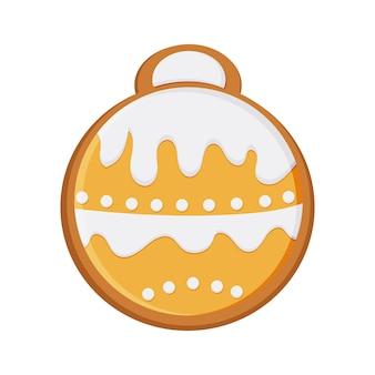 Pão de mel de ano novo na forma de um brinquedo para a árvore de natal. natal, comida. vetor