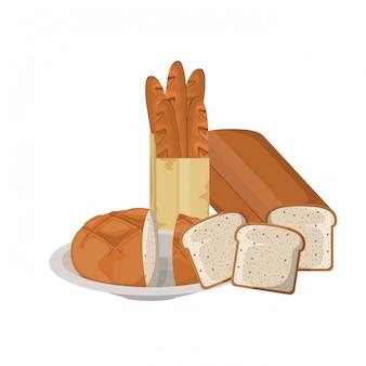 Pão de padaria fresco e delicioso