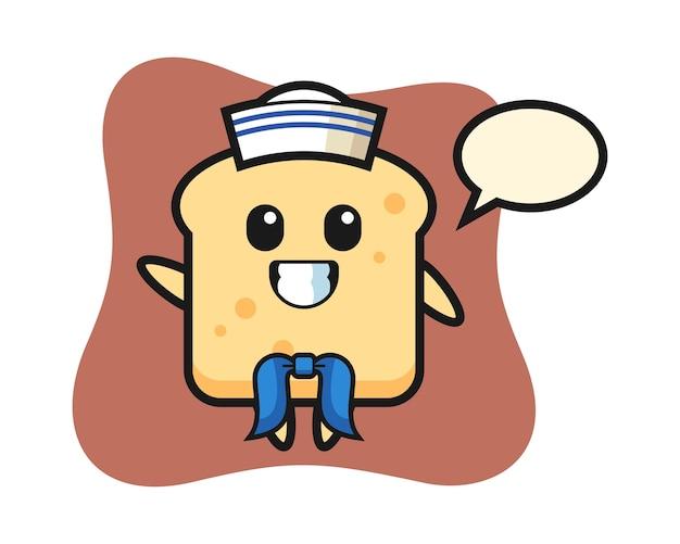 Pão de personagem como um marinheiro
