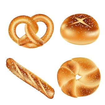 Pão de pretzel macio e original
