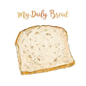 Pão de vetor isolado