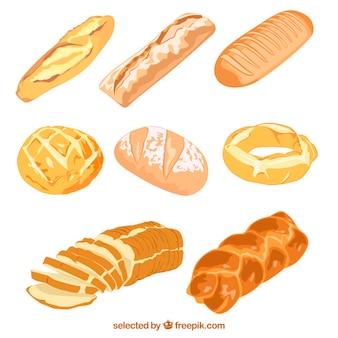 Pão delicioso ilustrado