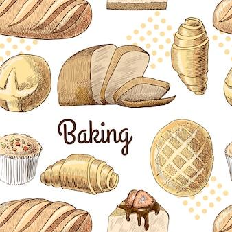 Pão, desenhado mão