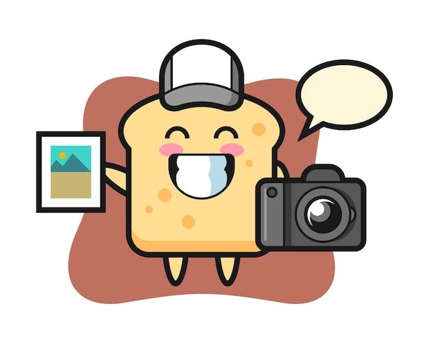 Pão do personagem como fotógrafo