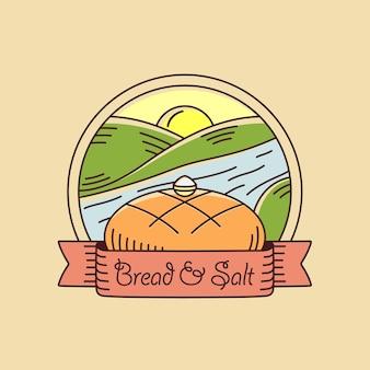 Pão e crachá de sal