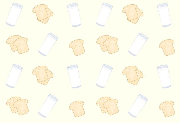 Pão e leite de fundo