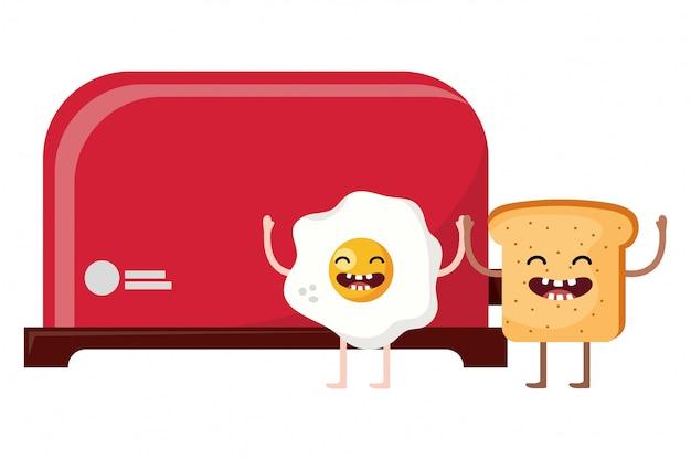 Pão torradeira cartoon