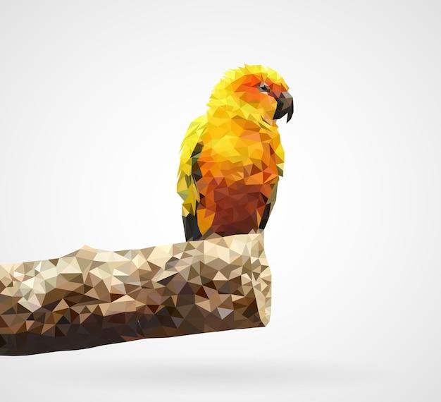 Papagaio amarelo poligonal