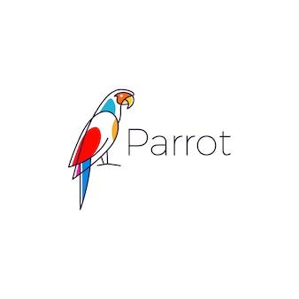 Papagaio, logotipo, pássaro, vetorial, ilustração, ícone