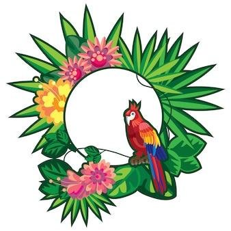 Papagaio na selva