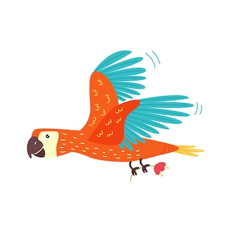Papagaio voador brilhante
