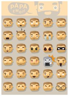 Papai, emoji, ícones