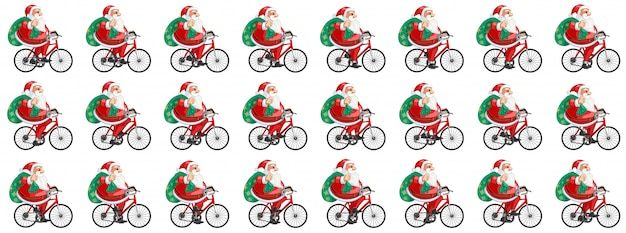 Papai noel ciclismo animação