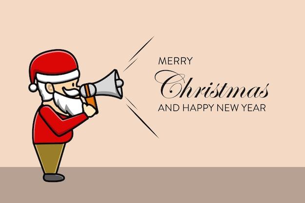 Papai noel diz fundo de feliz natal