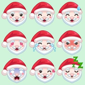 Papai Noel em emoção diferente