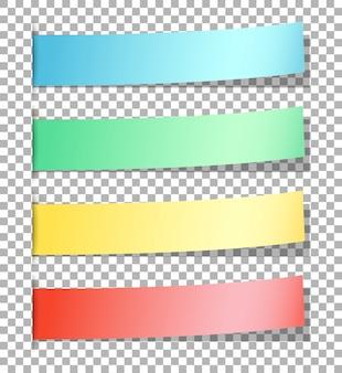 Papéis coloridos memorando