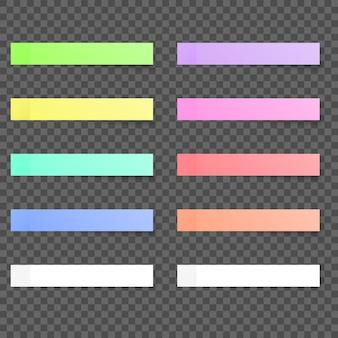 Papéis coloridos notas auto-adesivas