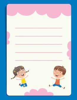 Papéis de nota em branco para educação infantil
