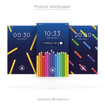 Papéis de parede para celular com lápis de cor