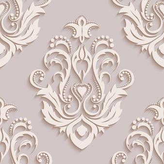 Papéis de parede sem costura no estilo barroco.