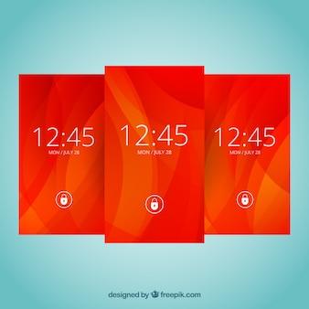 Papéis de parede vermelhos abstratos para celular