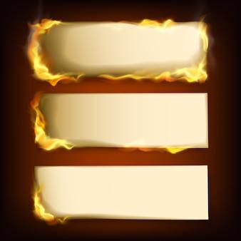 Papéis queimados
