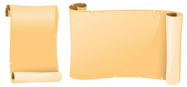 Papéis velhos de pergaminho