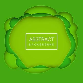 Papel abstrato cortado fundo verde vector