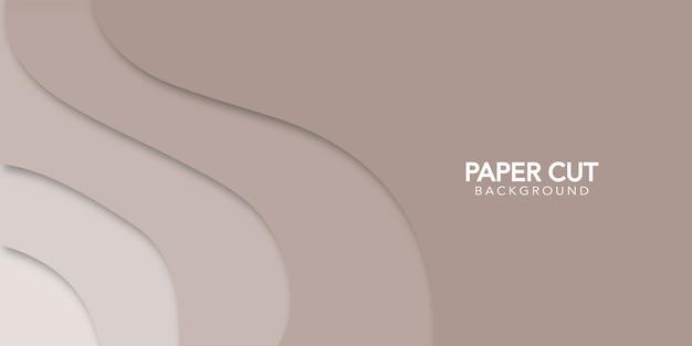 Papel abstrato corte fundo mínimo com formas simples. Vetor Premium