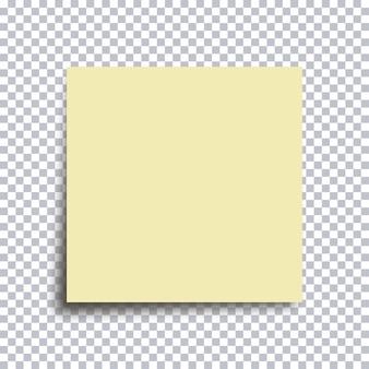 Papel adesivo. adesivo amarelo isolado em fundo transparente. ilustração vetorial.