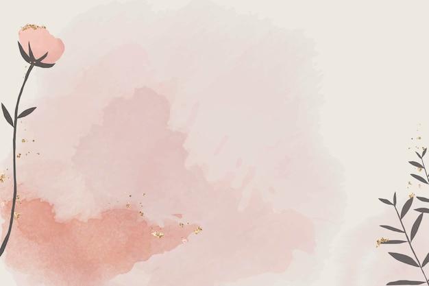 Papel aquarela com desenho floral