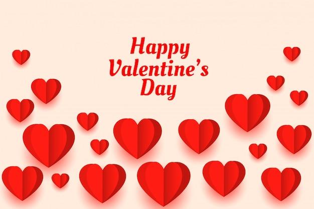 Papel bonito amor corações cartão