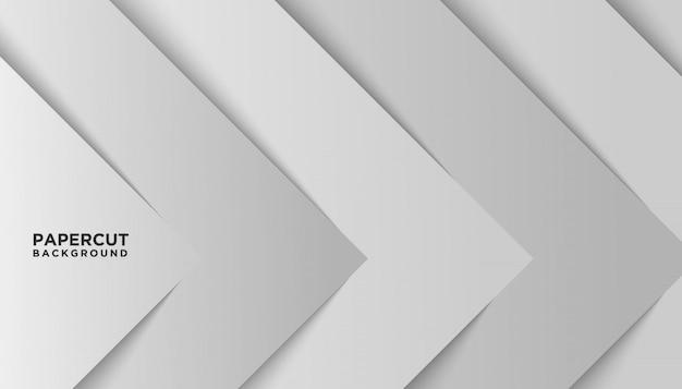 Papel branco abstrato corte fundo moderno