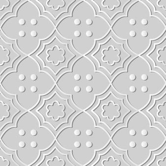 Papel branco arte curva cruzada quadro flor linha ponto, fundo de padrão de decoração elegante para cartão de banner da web